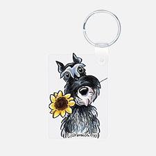 Sunflower Schnauzer Keychains