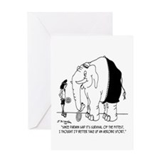 Survival of the Fittest Greeting Card