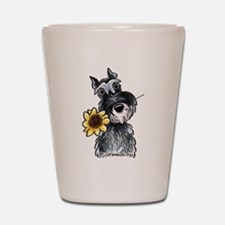 Sunflower Schnauzer Shot Glass