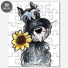 Sunflower Schnauzer Puzzle