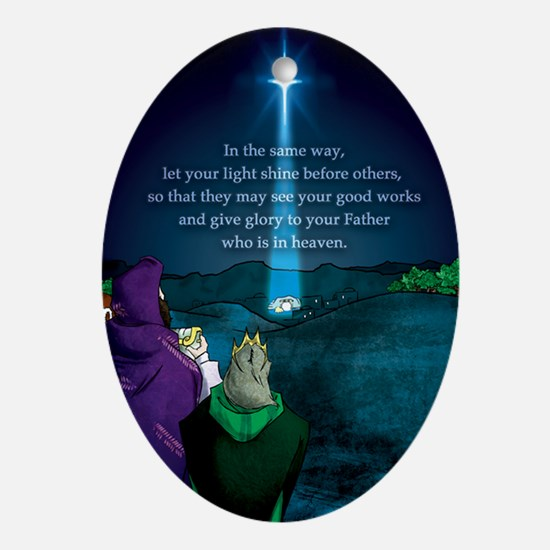 "Wise Men ""Let your light shine"" Ornament"
