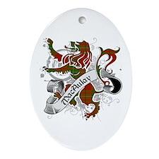 MacAulay Tartan Lion Ornament (Oval)