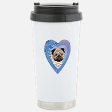 Pug Stainless Steel Travel Mug
