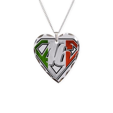 VRSMflag Necklace Heart Charm