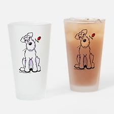 Schnauzer Sweetheart Drinking Glass