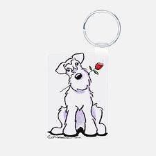 Schnauzer Sweetheart Keychains