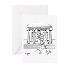 Lizard Protestor Greeting Cards (Pk of 10)