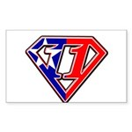 BSSMflag Sticker (Rectangle 50 pk)