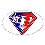 BSSMflag Sticker (Oval 10 pk)