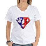 BSSMflag Women's V-Neck T-Shirt