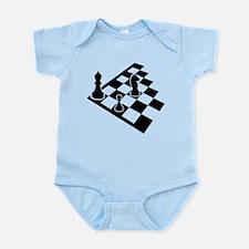 Chessboard chess Infant Bodysuit