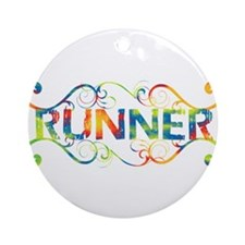 Colorful Runner Ornament (Round)