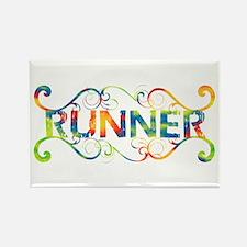 Colorful Runner Rectangle Magnet