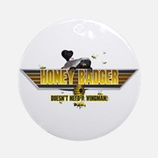 Honey Badger Top Gun Wingman Ornament (Round)