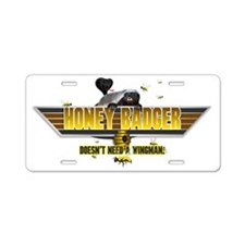 Honey Badger Top Gun Wingman Aluminum License Plat