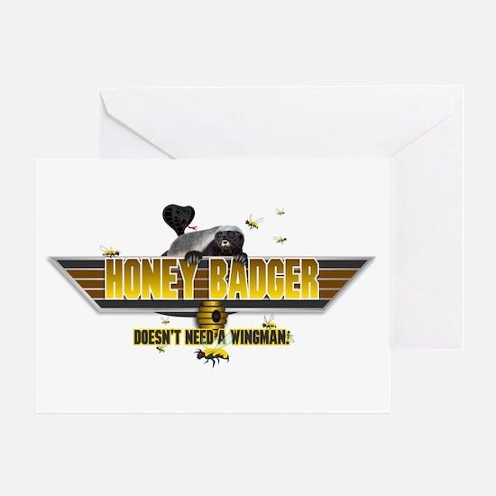 Honey Badger Top Gun Wingman Greeting Card