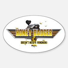 Honey Badger Top Gun Wingman Sticker (Oval)