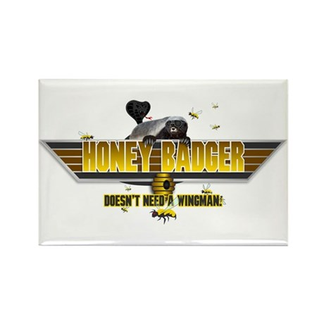Honey Badger Top Gun Wingman Rectangle Magnet