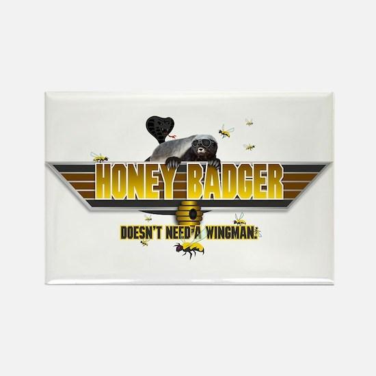 Honey Badger Top Gun Wingman Rectangle Magnet