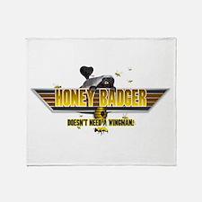Honey Badger Top Gun Wingman Throw Blanket