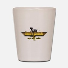Honey Badger Top Gun Wingman Shot Glass