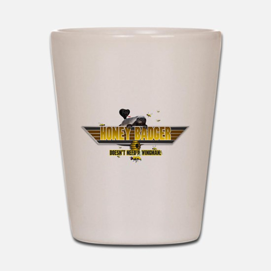 Honey Badger Top Gun Wingman Shot Glass