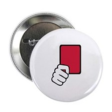 "Referee red card 2.25"" Button (10 pack)"