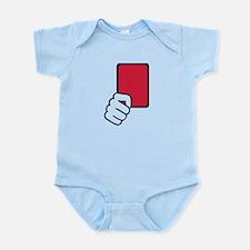 Referee red card Infant Bodysuit