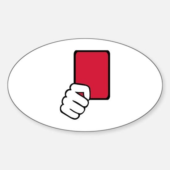 Referee red card Sticker (Oval)