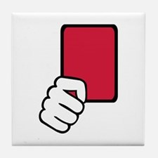 Referee red card Tile Coaster