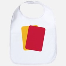 Referee red yellow card Bib