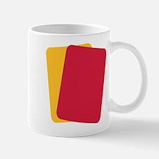 Referee red yellow card Mug