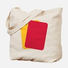 Referee red yellow card Tote Bag
