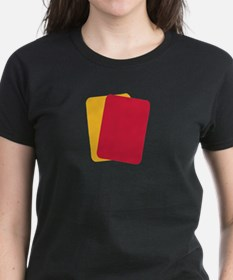 Referee red yellow card Tee