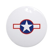 Star & Bar Ornament (Round)