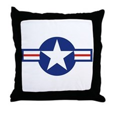 Star & Bar Throw Pillow
