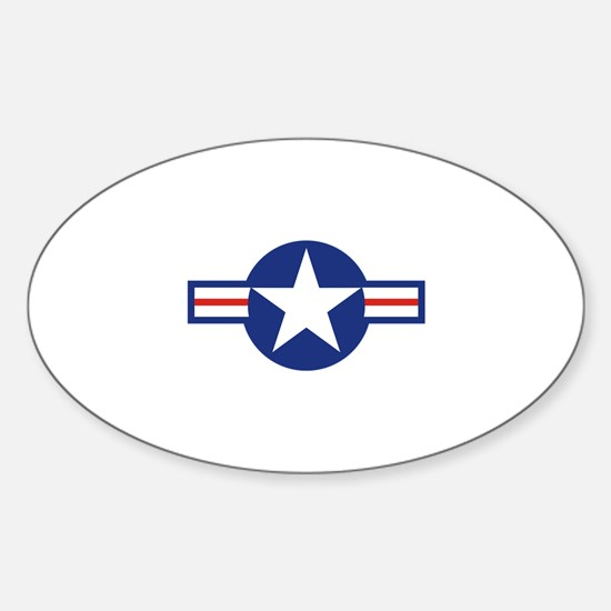 Star & Bar Sticker (Oval)
