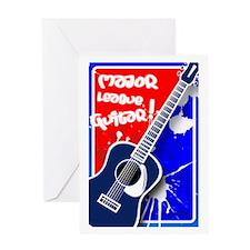 Major League Guitar Greeting Card
