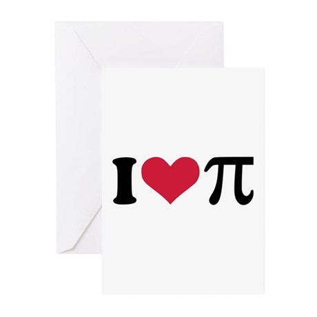 I love Pi Greeting Cards (Pk of 20)