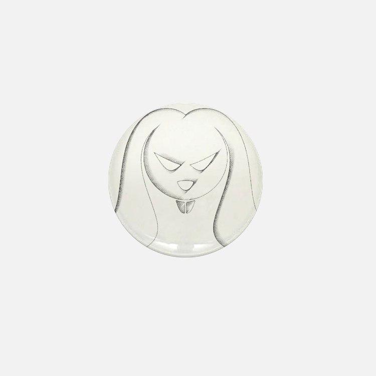 Evil Bunny Mini Button