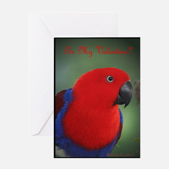 Eclectus Parrot Valentine card