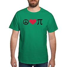 Peace, Love & Pi T-Shirt