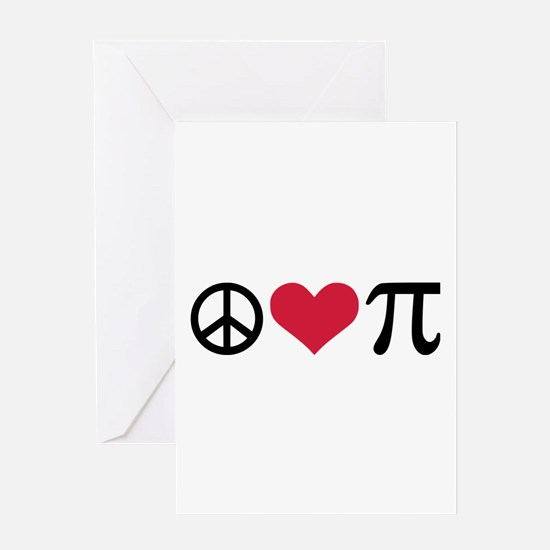 Peace, Love & Pi Greeting Card