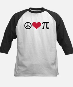 Peace, Love & Pi Kids Baseball Jersey