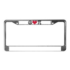 Peace, Love & Pi License Plate Frame