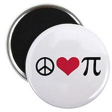Peace, Love & Pi Magnet