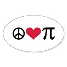 Peace, Love & Pi Decal