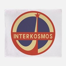 Interkosmos Throw Blanket