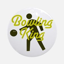 Bowling king Ornament (Round)
