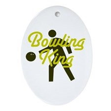 Bowling king Ornament (Oval)